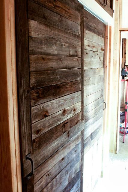 barn style doors from palettes