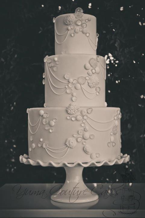 Isomalt Diamond Cake