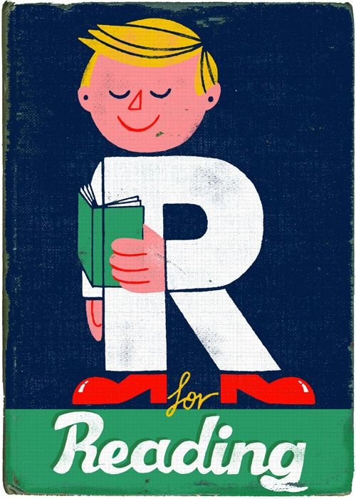 """R for Reading"" illustration by Paul Thurlby"