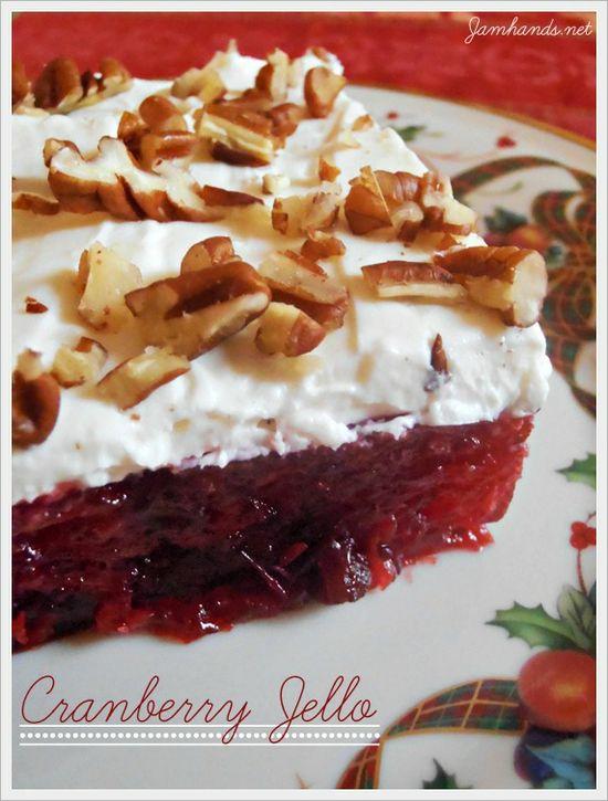 Cranberry Jello Dessert