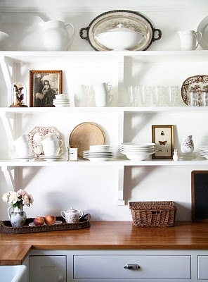 the beautiful kitchen at A country farmhouse blog