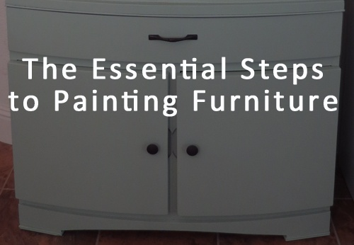 Steps in Painting Furniture