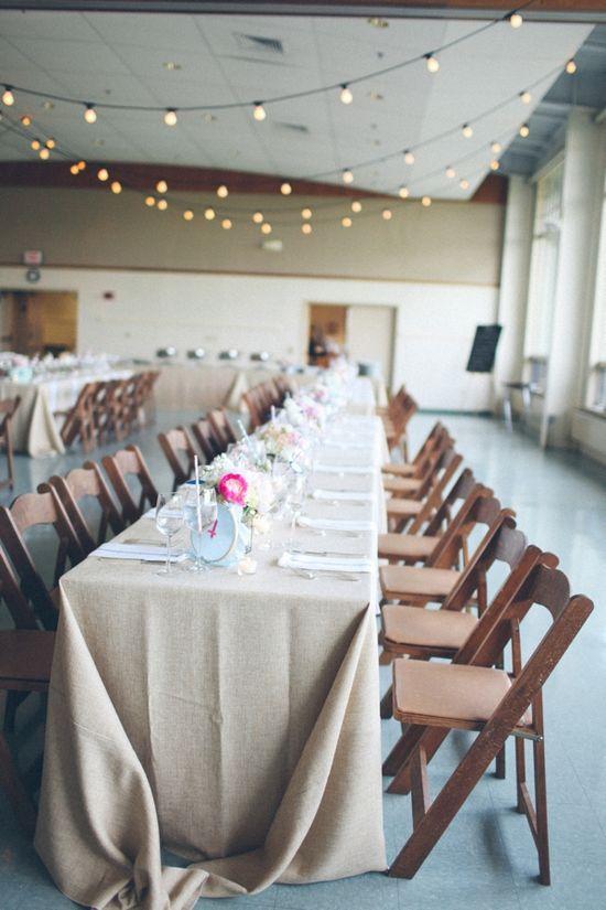 wedding reception in school cafeteria