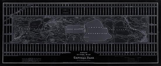 New York City Central Park Blackout - Maps for interior design and decor