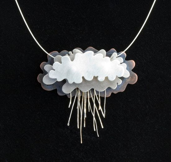 Silver Rain Clouds Necklace Silver Lining by NIKJewelry on Etsy, $250.00