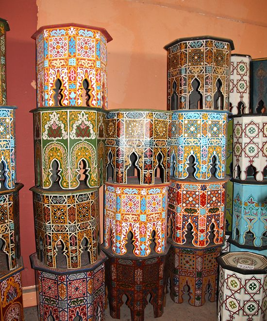 Moroccan painted tables 3