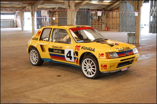 Peugeot 205 T16 - yellow car
