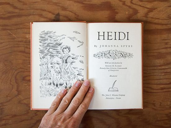 Heidi illustrated // blue handmade journal // hard by ericmbaral