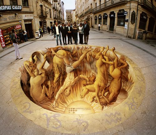 3d sidewalk art optical illusion