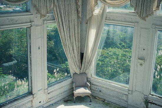 abandoned. Look at that view out the window