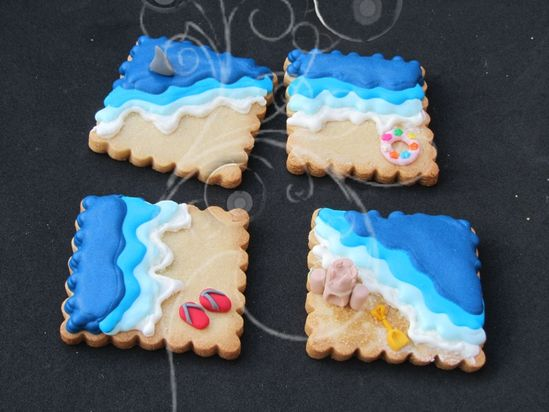 cutest beach cookies ever? I think so.