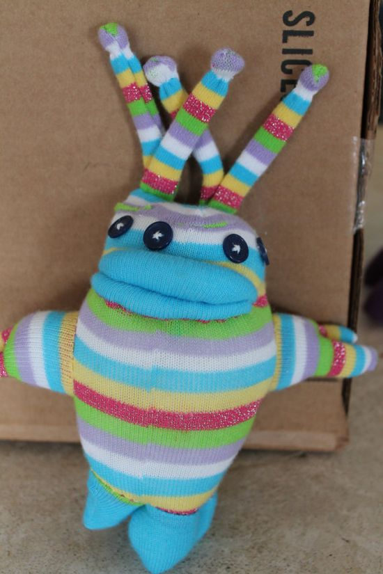 Silly Sock Creature by devillerouge on Etsy, $24.99