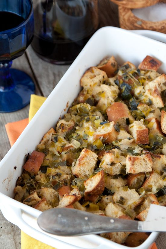 Sourdough Parmesan and Leek Stuffing: Whats Gaby Cooking