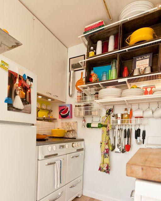 Organized small kitchen.
