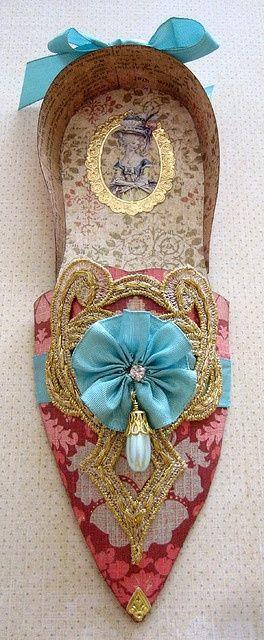 Marie Antoinette shoe, reproduction.