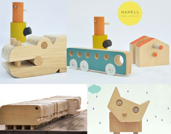 wooden toys by Mamell, via Bloesem Kids