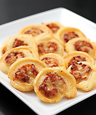 Pepperoni and Asiago Cheese Pinwheels