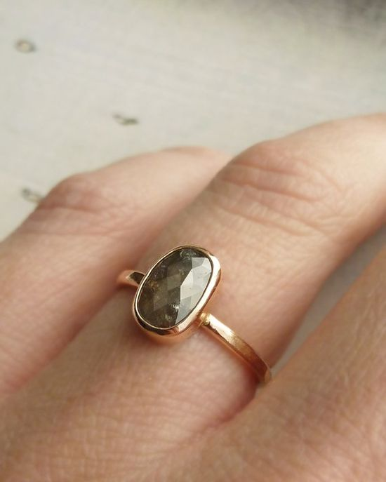 love the oval shape of this ring