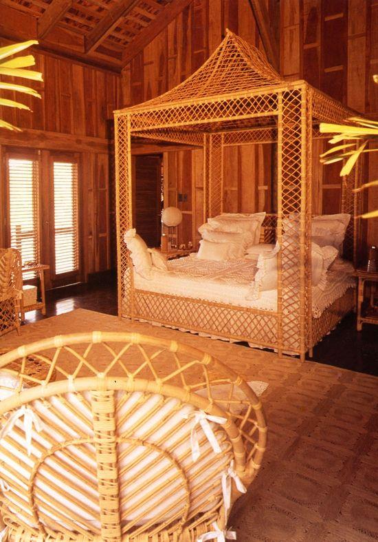 rattan bedroom