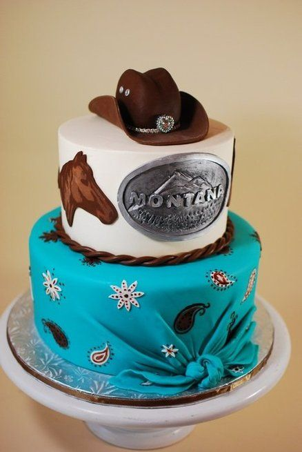 Cow Girl Birthday Cake