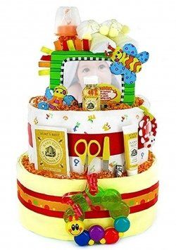Diaper Cake Ideas. These make fantastic baby shower gifts!