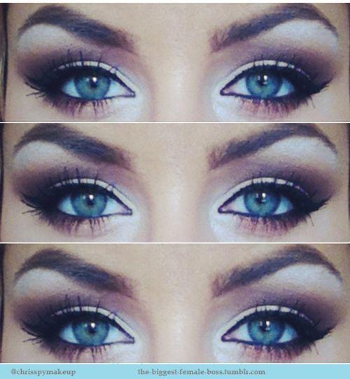 #makeup #blue eyes #smoky eye #party makeup