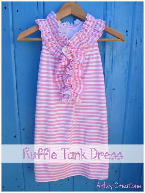 Ruffle Tank Dress tutorial