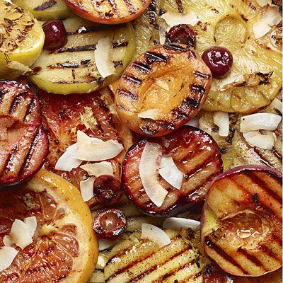 Ginger grilled-fruit