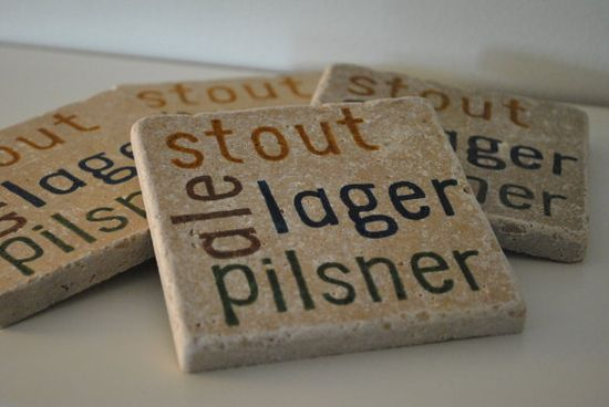 natural stone coasters for beer lovers