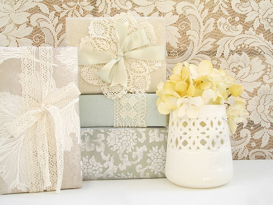 doily and lace packaging