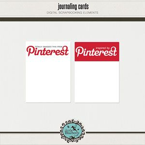 FREE project life Pinterest journal card