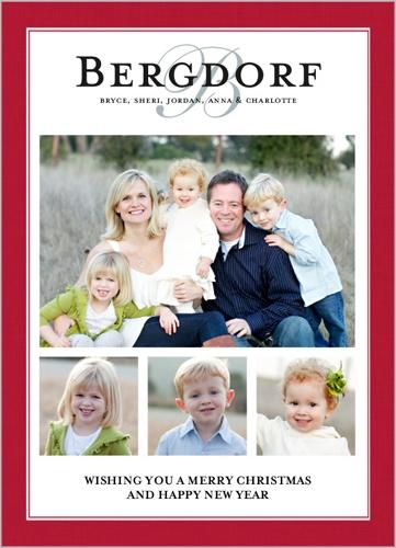 Our Family Name Christmas Card