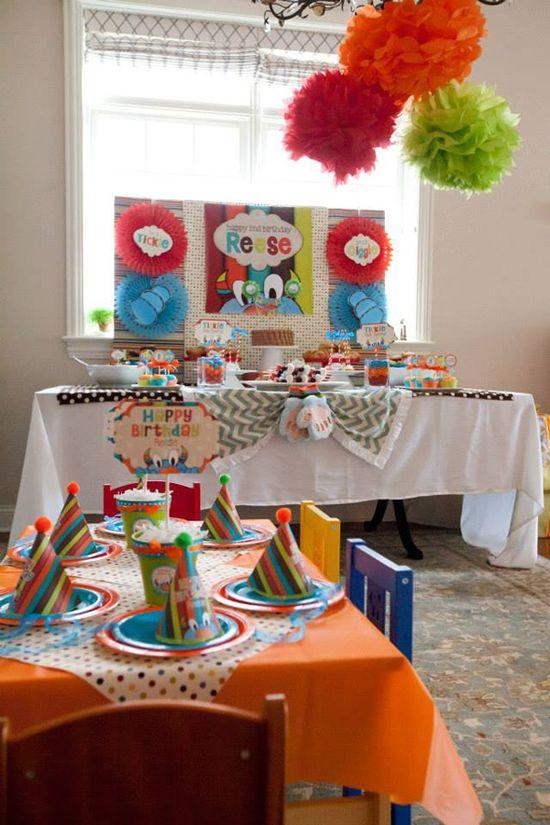 Tickle Monster Second Birthday Party via Kara's Party Ideas