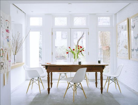 dining room: via solid frog