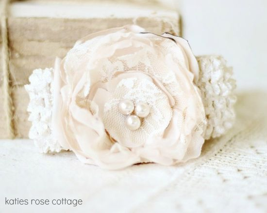 Handmade Rose Baby Headband
