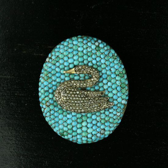 This Victorian swan brooch is absolutely stunning. Wow.
