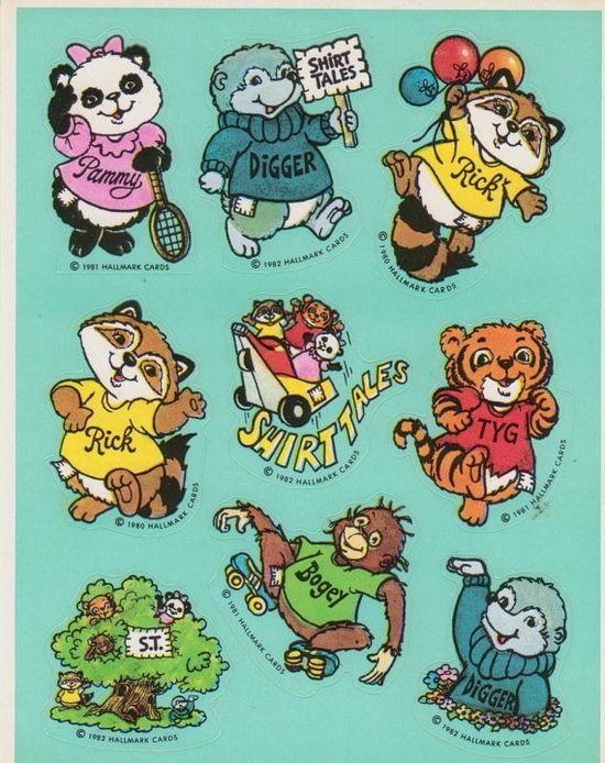 Hallmark Vintage 80's Shirt Tales Cartoon by RosiesStickers, $4.50