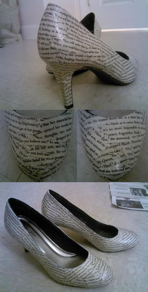 Shoe text