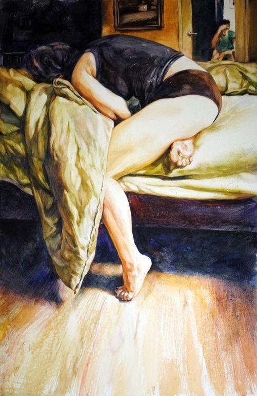 "Saatchi Online Artist: Gregory Radionov; Watercolor, 2012, Painting ""let's talk"""