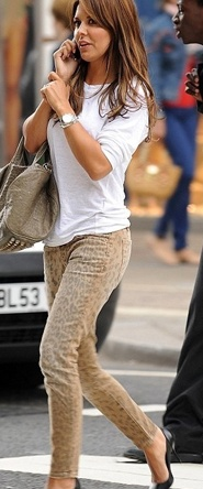 muted leopard print pants