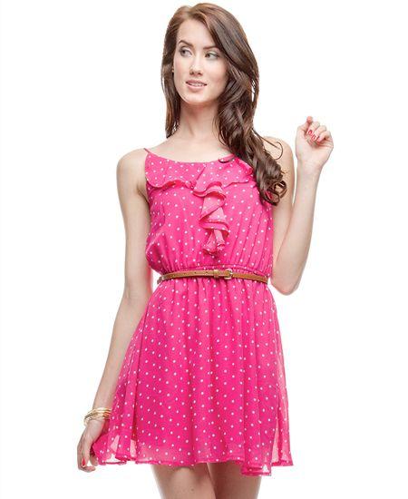 Polka dots make me happy. Love this dress.