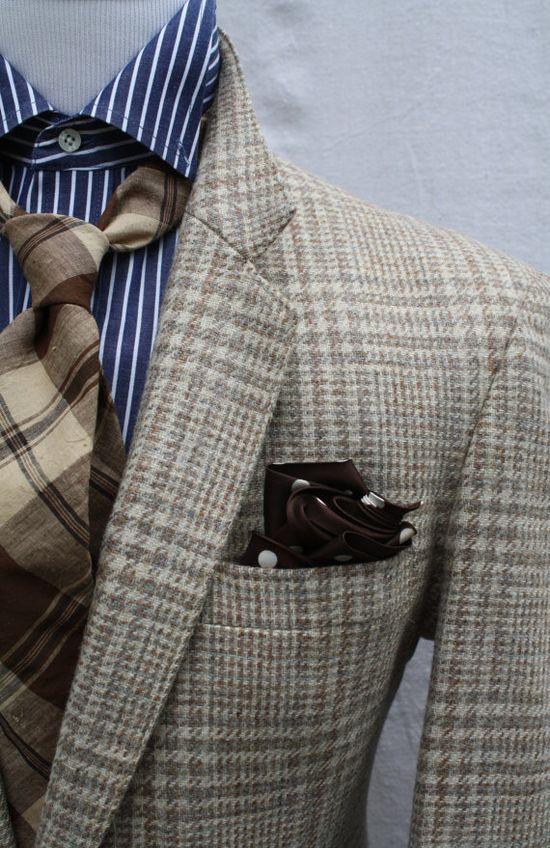 Mens Vintage Glen Plaid Sportcoat by ViVifyVintage