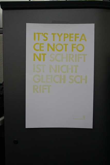 Its typeface, not font.