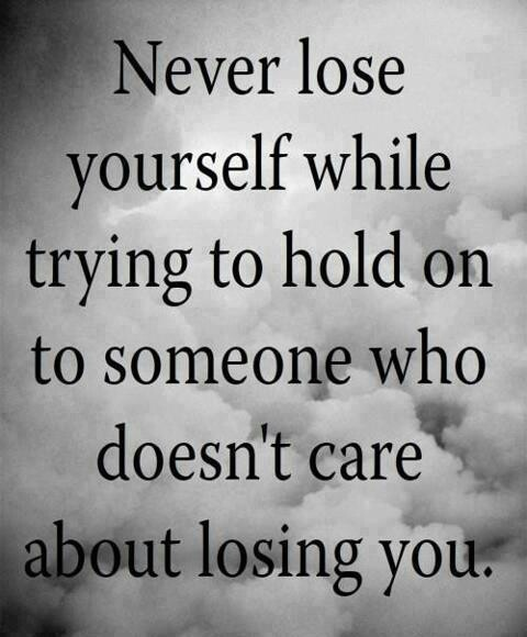 Don't lose yourself