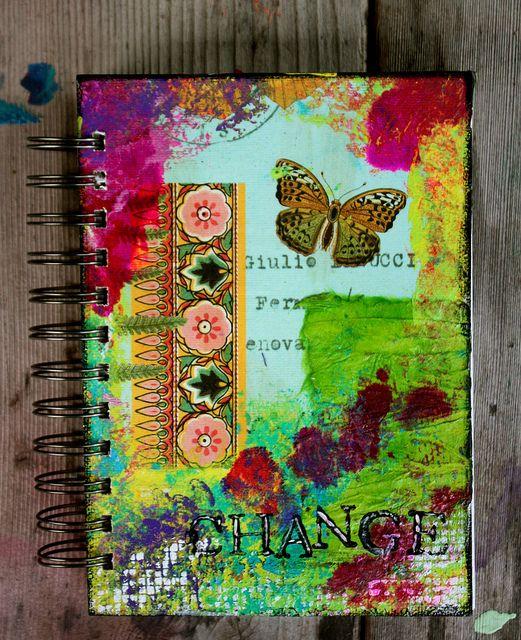 Beautiful handmade journal by Kathleen Tennant.