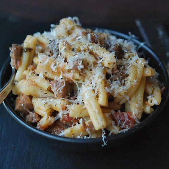 Pasta with Braised Pork, Red Wine and Pancetta // More Italian Pastas: www.foodandwine.c... #foodandwine
