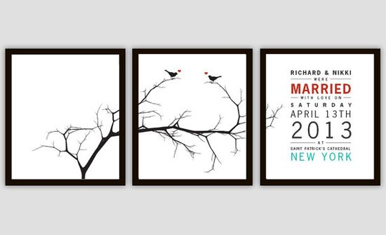 #Wedding #Gift Tree and Bird Personalized Art Print Set by PrintsofBeauty, $20.00 @Etsy