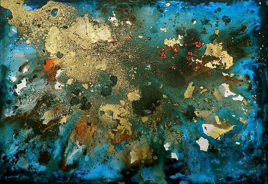 "Saatchi Online Artist: Kym Haverson; Mixed Media, 2011, Painting ""Number 3"""