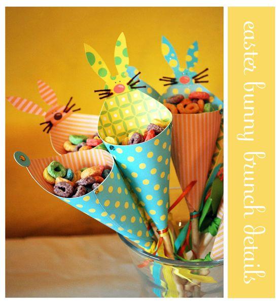 easter bunny treat cones - bjl