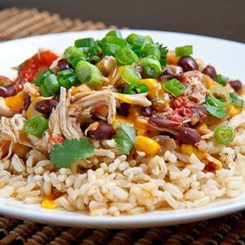 Crockpot Chicken Santa Fe Recipe - The Gracious Pantry